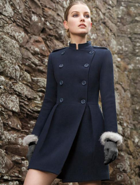 NEW-ANDRE-BADI-WOMENS-SKIRTED-NAVY-WOOL-PEACOAT-SIZES-XX-SMALL-X-SMALL-SMALL